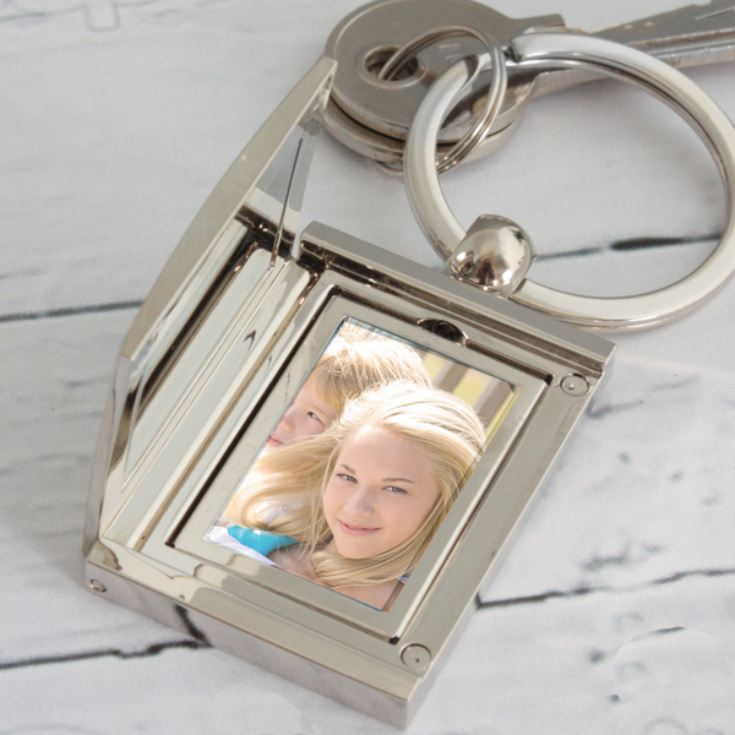 Engraved Hinged Photo Frame Keyring product image