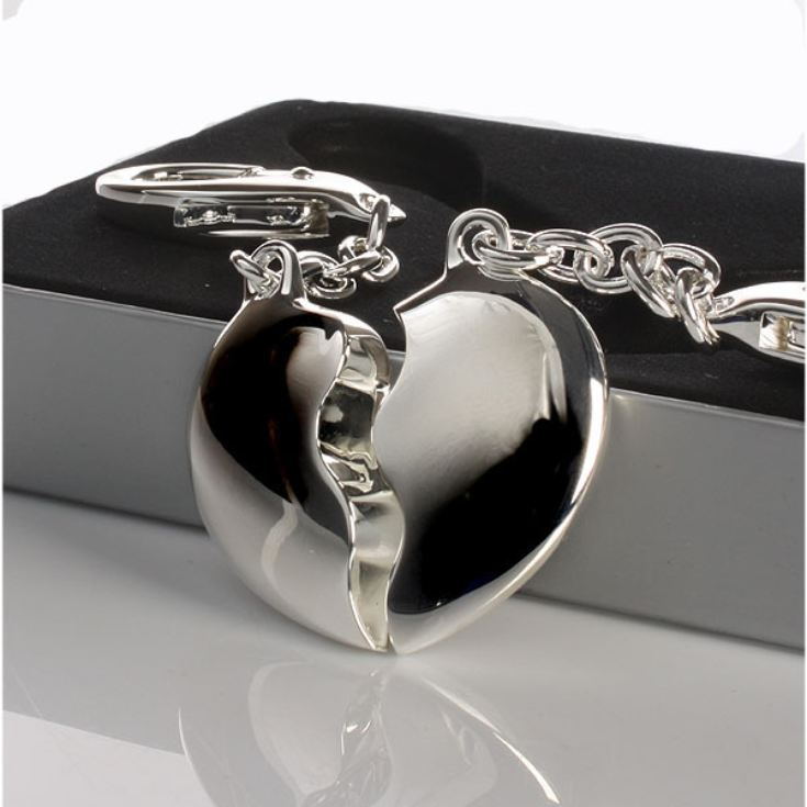 Engraved Joining Hearts Keyring in Gift Box product image