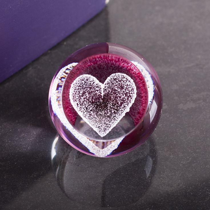 Special Moments Ruby Heart Paperweight By Caithness Glass product image