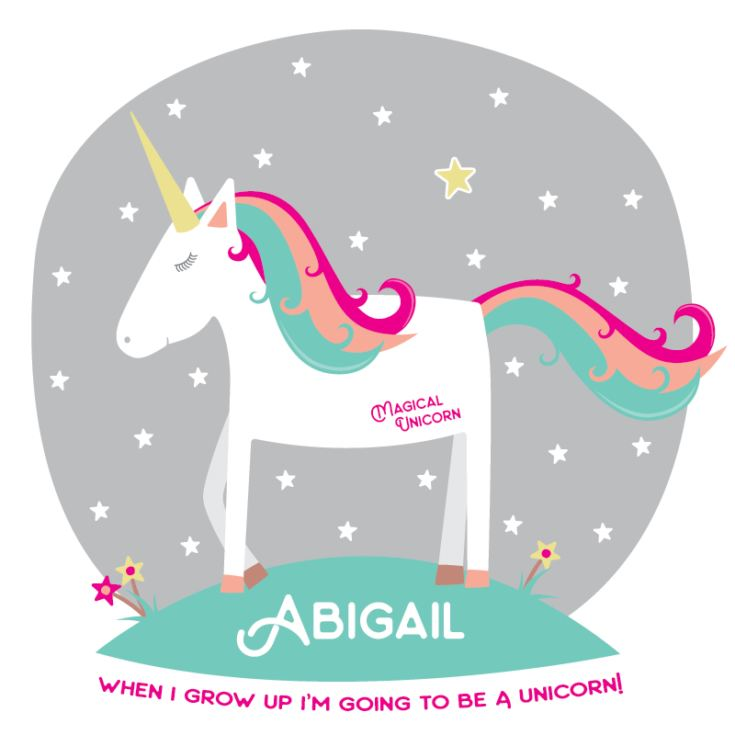 Personalised Magical Unicorn Babygrow product image