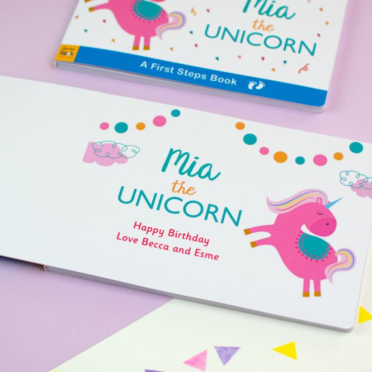 Personalised Unicorn Board Book product image