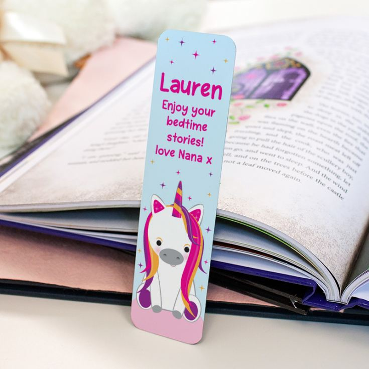 Personalised Unicorn Sparkle Bookmark product image