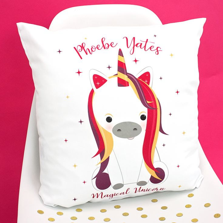 Personalised Unicorn Sparkle Cushion product image