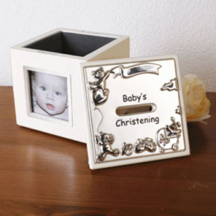 Babys Christening Photo Money Box product image