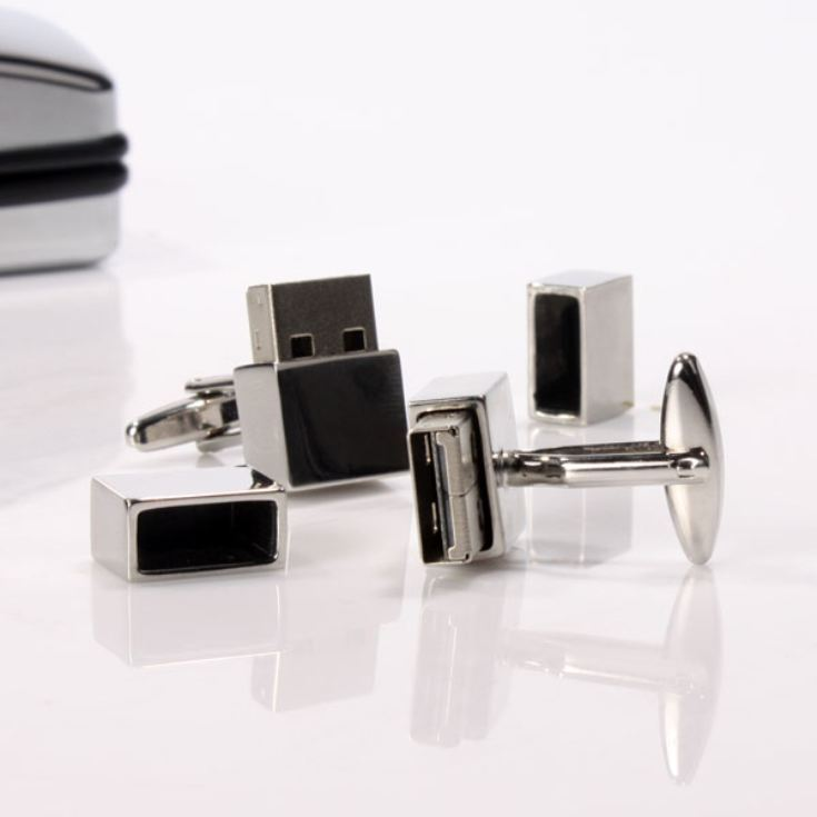 Working USB Cufflinks - Personalised product image