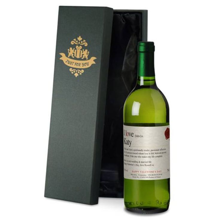 Personalised Valentine's Wine product image