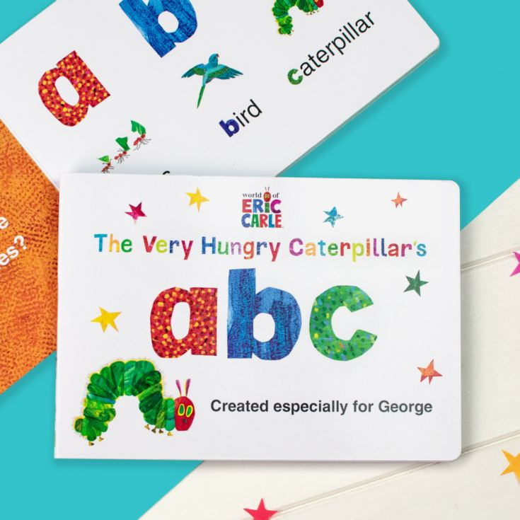 Personalised Very Hungry Caterpillar Board Book – ABC product image
