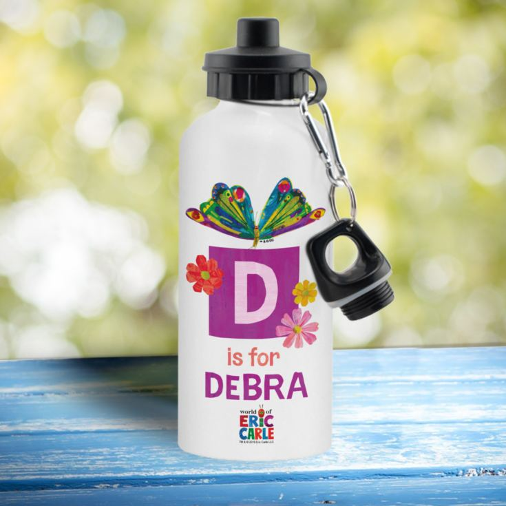 Personalised Very Hungry Caterpillar Initial Butterfly Drinks Bottle product image