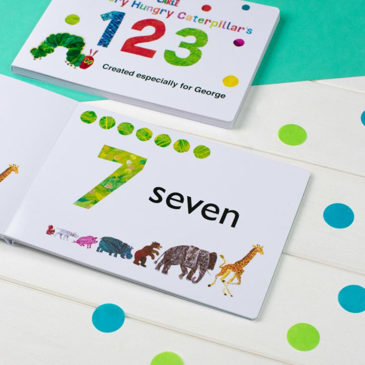Personalised Very Hungry Caterpillar Board Book - 123 product image