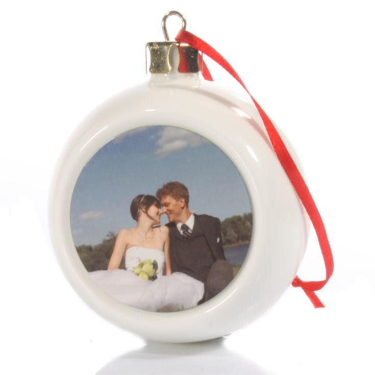 Personalised Christmas Baubles Photo