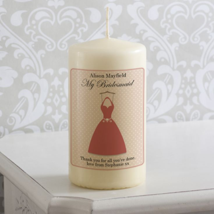 Personalised Bridesmaid Dress Candle product image