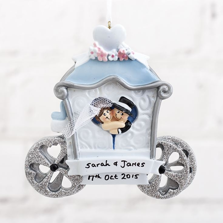 Personalised Wedding Carriage Hanging Ornament product image