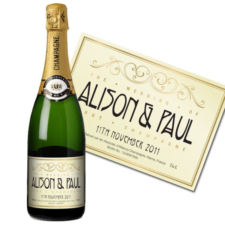 Personalised Wedding Champagne product image