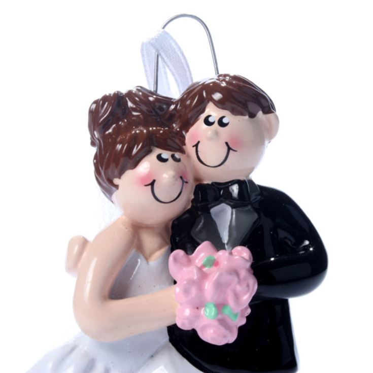 Bride & Groom Personalised Hanging Ornament product image