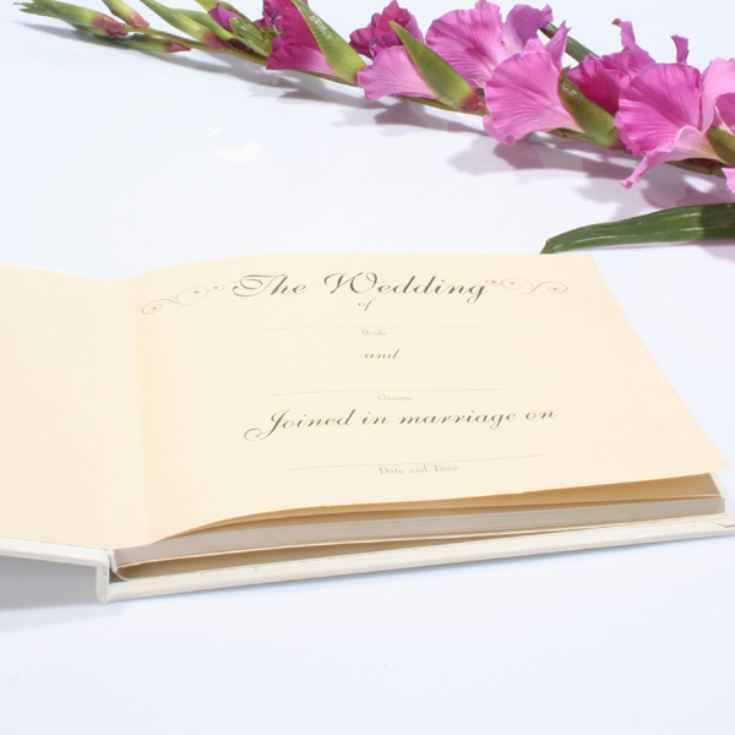 Wedding Guest Book with Swirling Hearts Design product image
