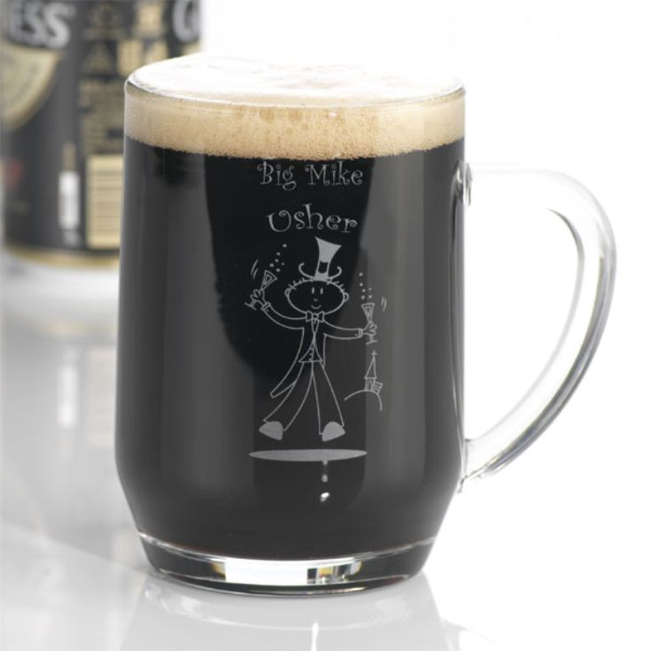 Etched Wedding Character Tankard product image