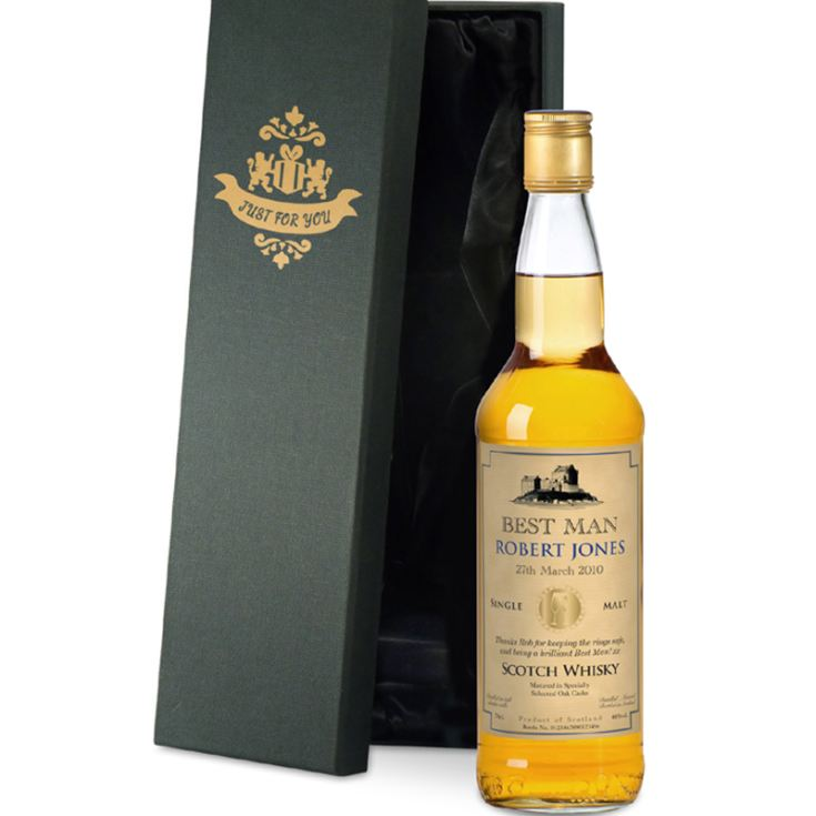 Personalised Best Man Malt Whisky product image
