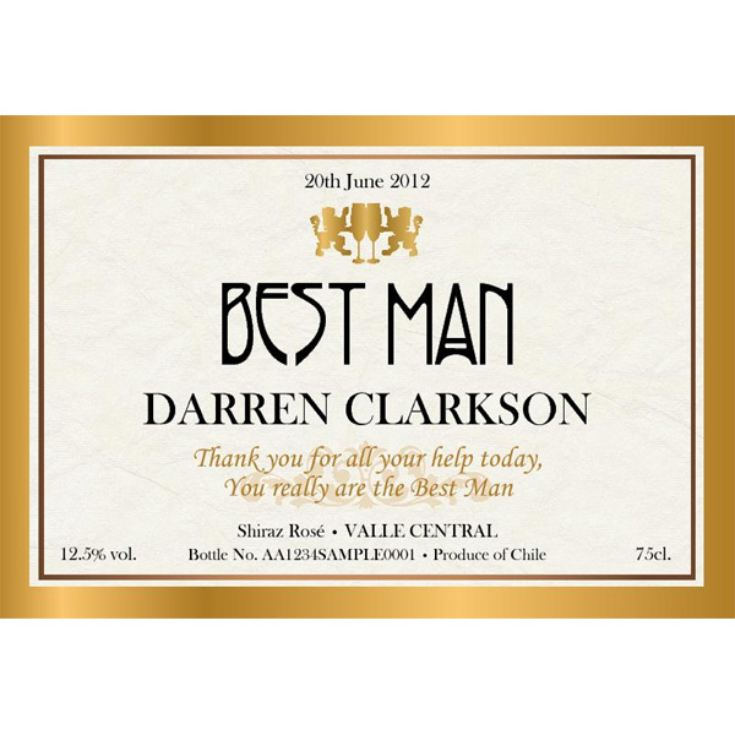 Personalised Wedding Party Wine product image