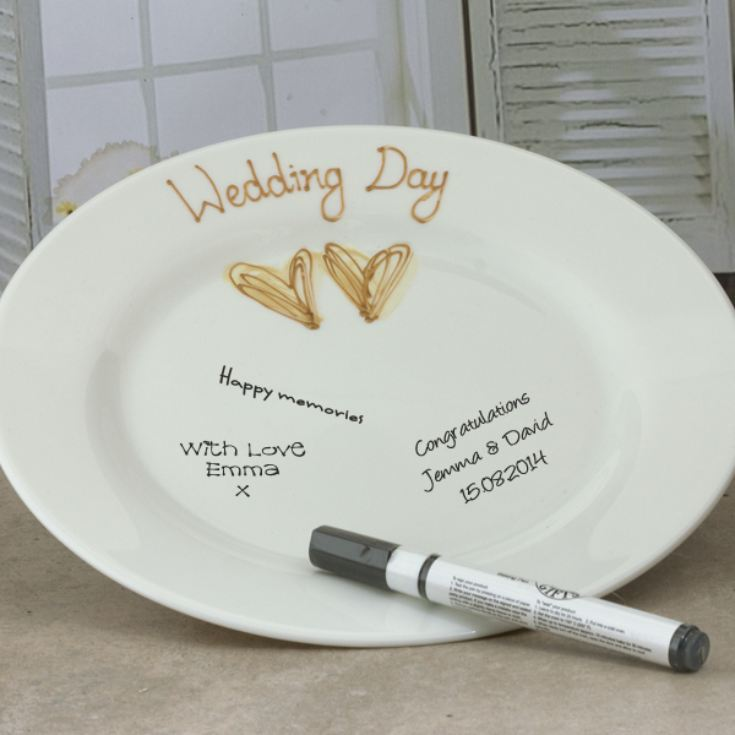 Wedding Guest Signing Plate Gold product image