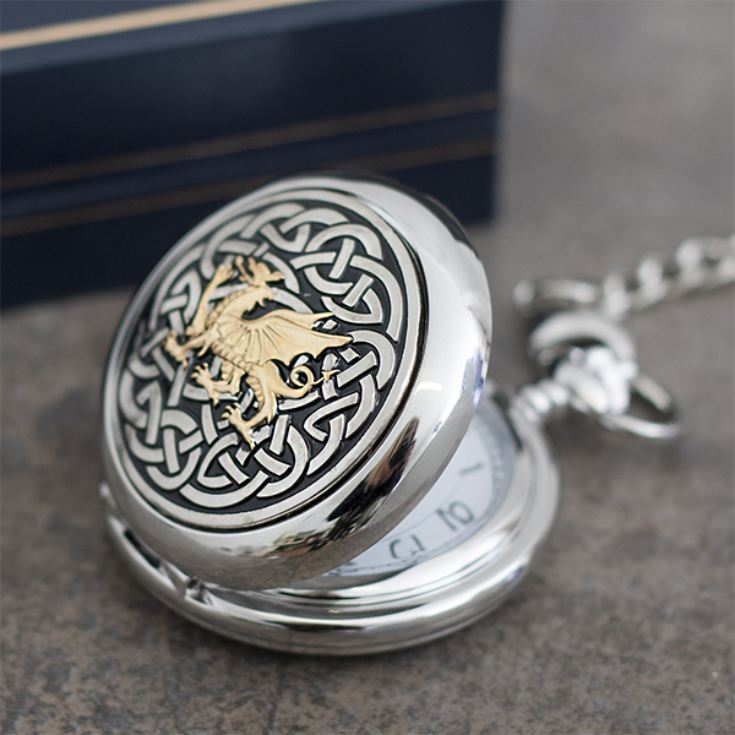 Welsh Dragon Personalised Pocket Watch product image