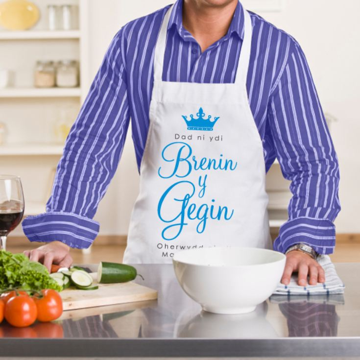King of The Kitchen Apron - Ffedog Brenin y Gegin product image