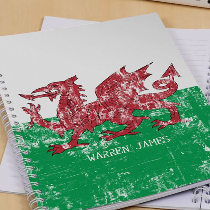 Welsh Dragon Personalised Notebook product image