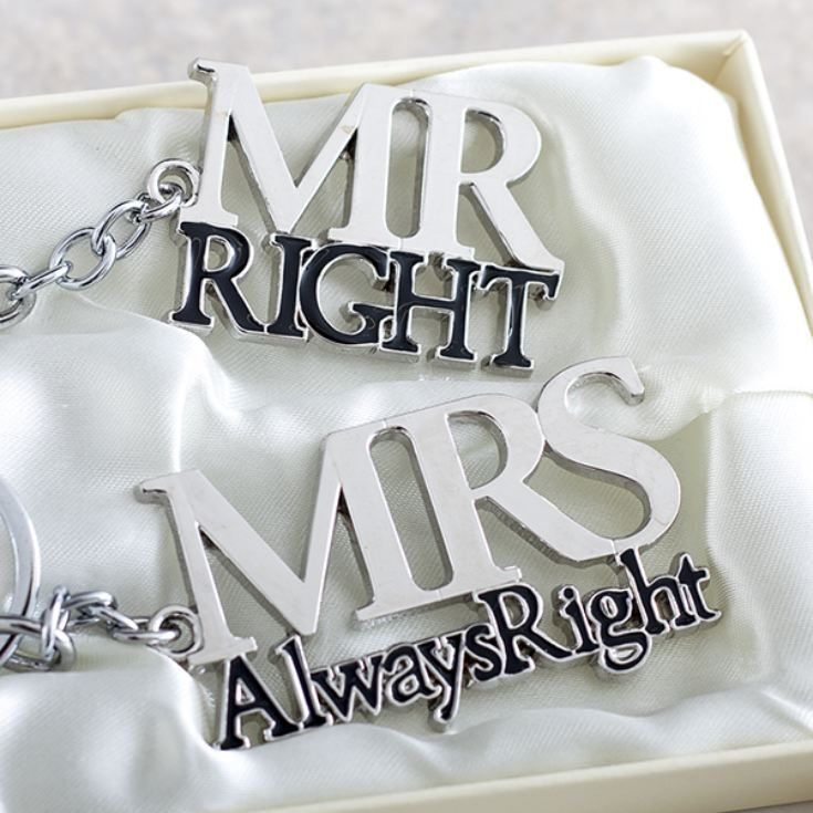 Mr Right & Mrs Always Right Keyrings Set product image