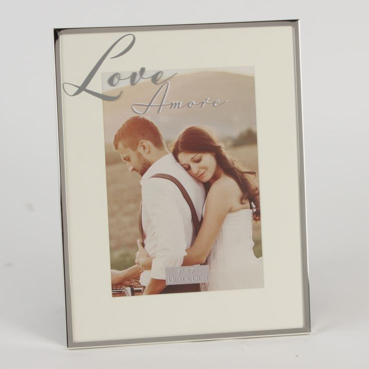 Amore Silverplated Love Mirror Script Frame product image