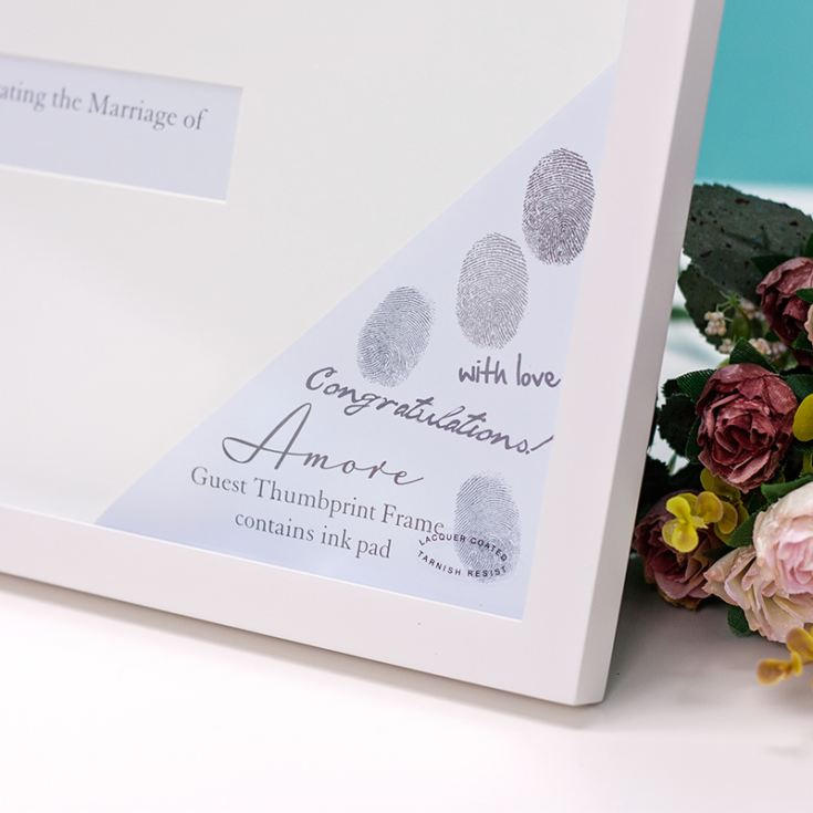 Amore Wedding Guest Thumbprint Frame product image