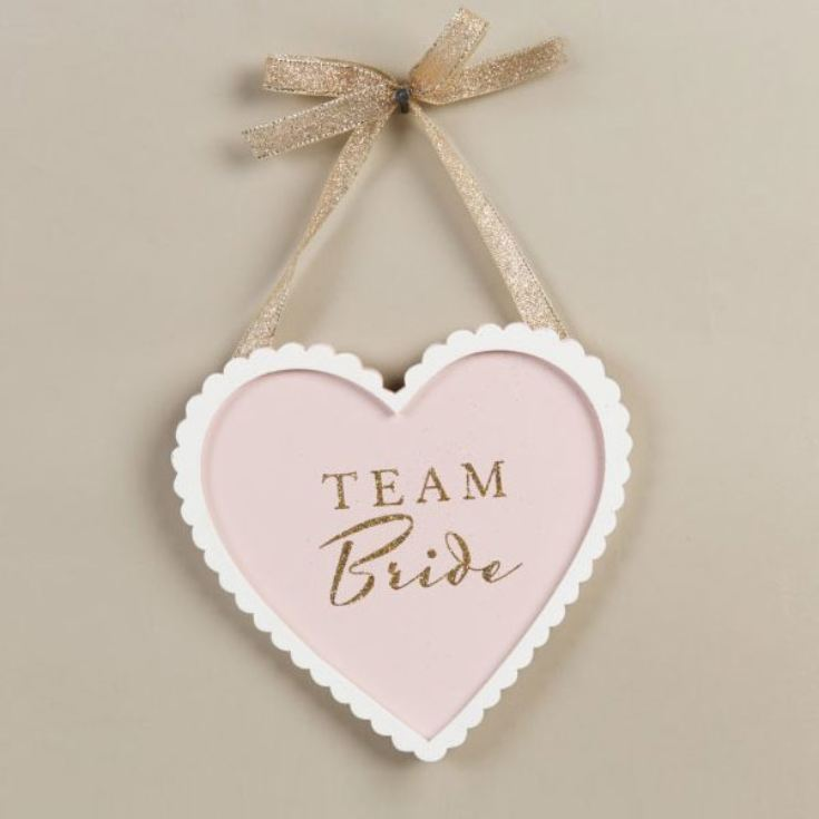 Amore Team Bride Heart Plaque product image