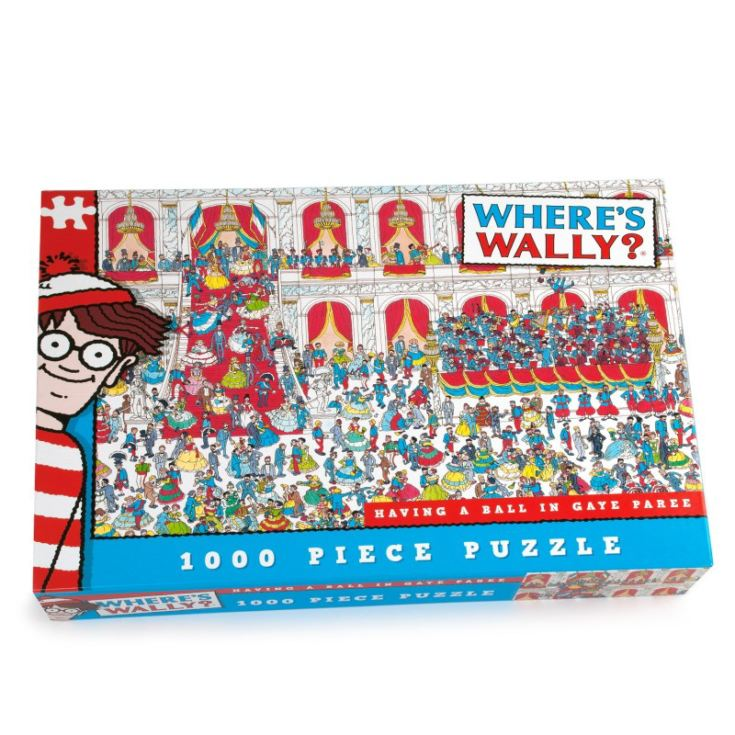 Where's Wally Having a Ball in Gaye Paree 1000 piece puzzle product image
