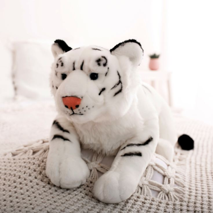 Large Cuddly White Tiger product image