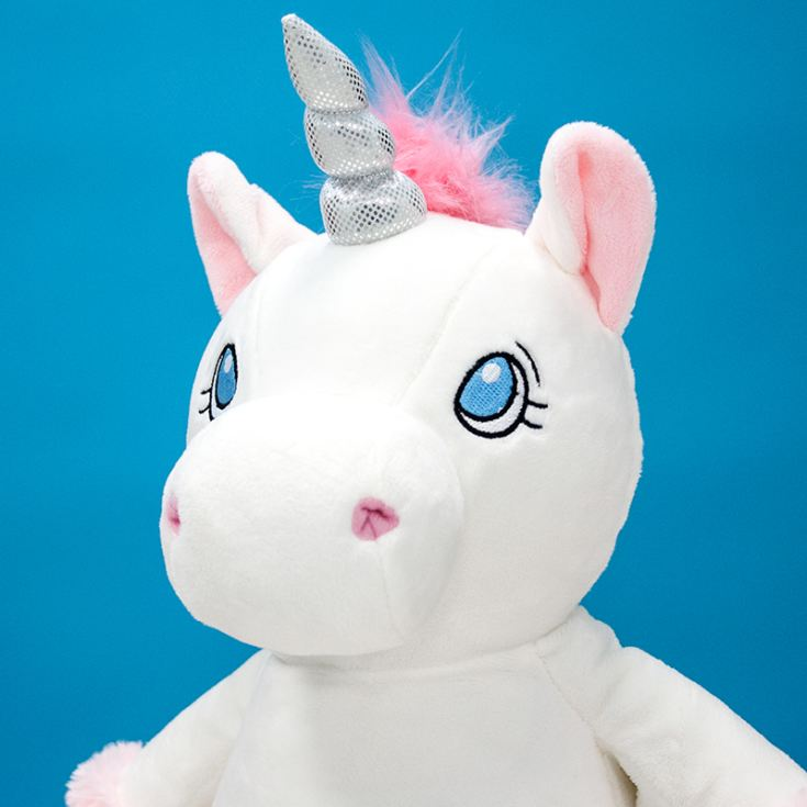 Personalised Embroidered Cubbies White Unicorn Soft Toy product image