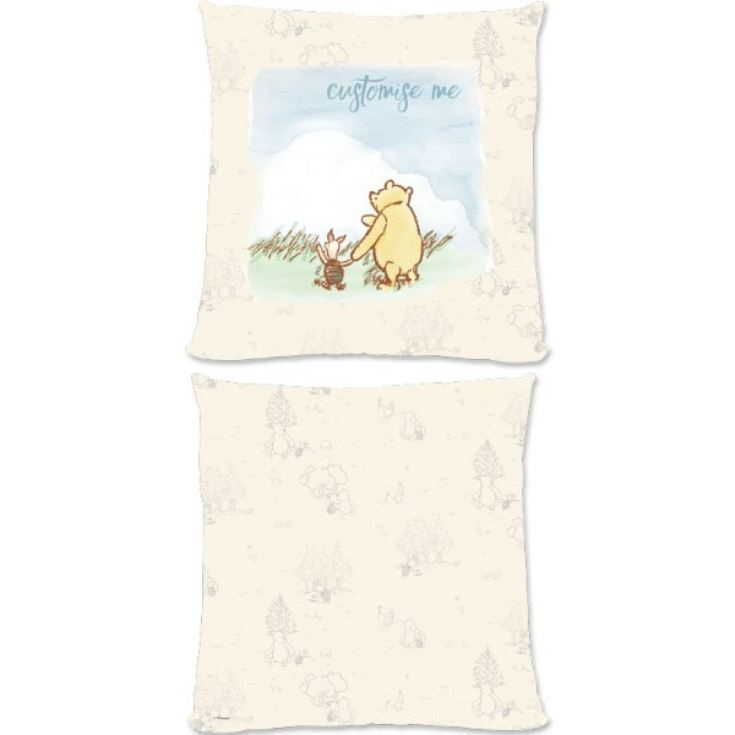 Personalised Disney Winnie The Pooh and Piglet Large Cushion product image