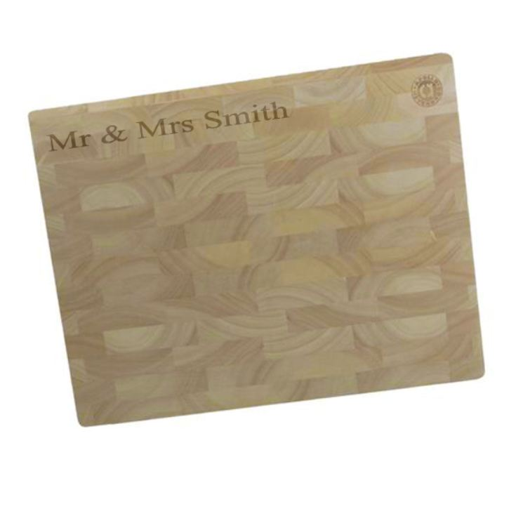 Personalised Wooden Chopping Block product image