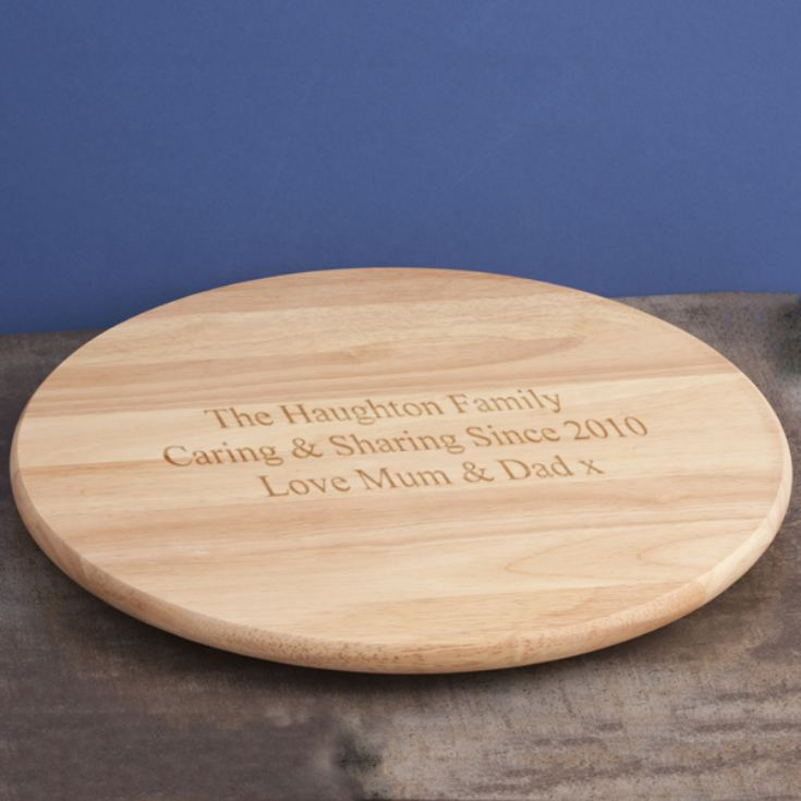 Personalised Wooden Lazy Susan product image
