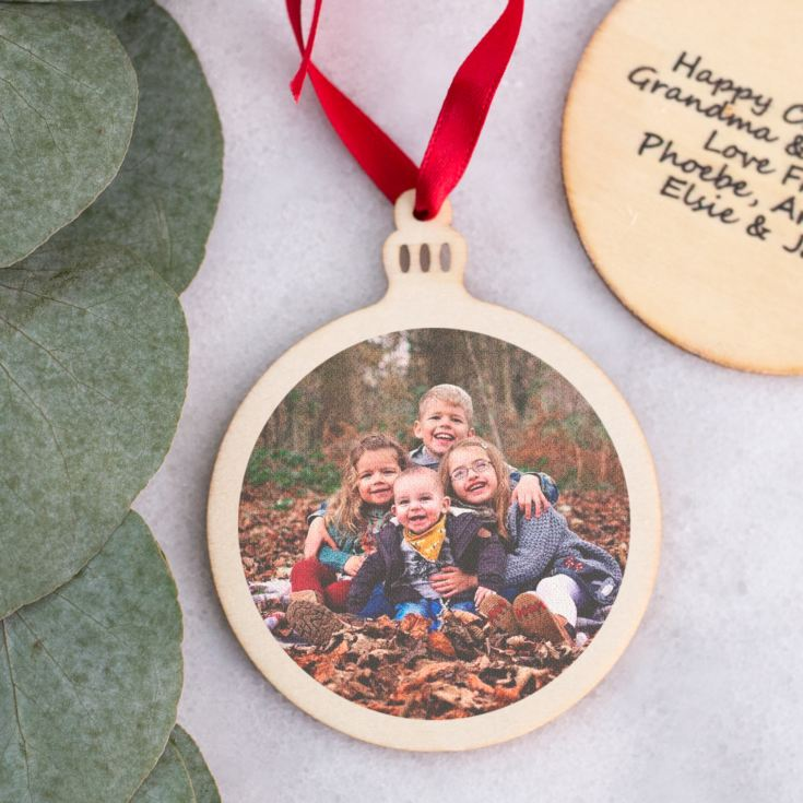Personalised Round Wooden Hanging Ornament product image