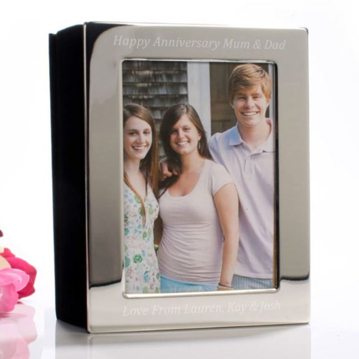 Engraved Silver Plated Photo Album 5 x 7 product image