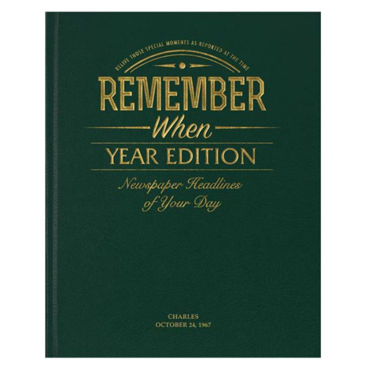 Personalised Anniversary Year Book - News From Your Wedding Year product image