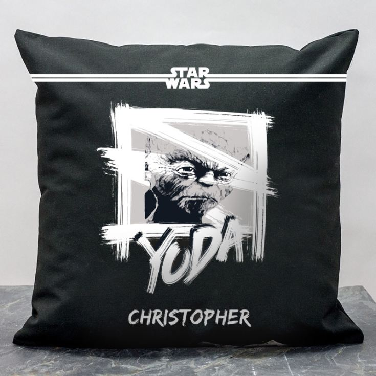 Personalised Star Wars Yoda Paint Cushion product image