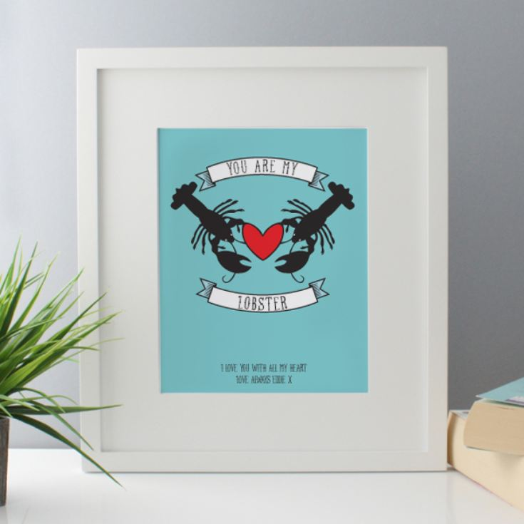 Personalised You Are My Lobster Framed Print product image