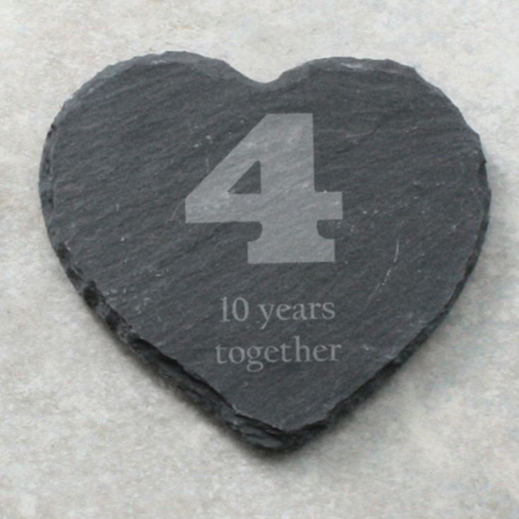 Your Year Set of 4 Personalised Slate Coasters product image