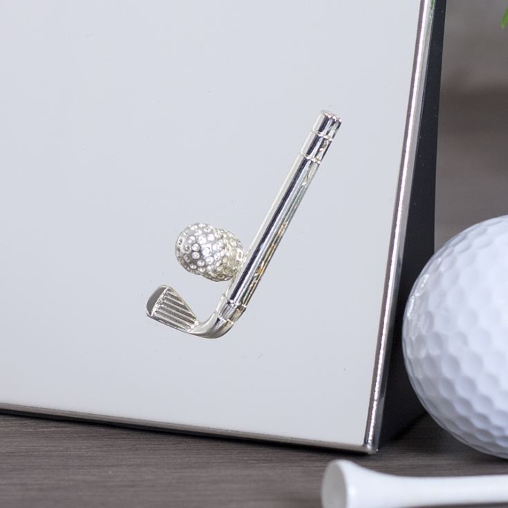 Personalised Luxury Golf Desk Clock product image