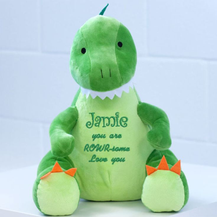 Personalised Embroidered Zippie Dinosaur product image