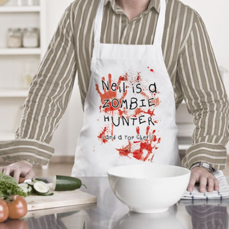 Personalised Zombie Hunter Apron product image