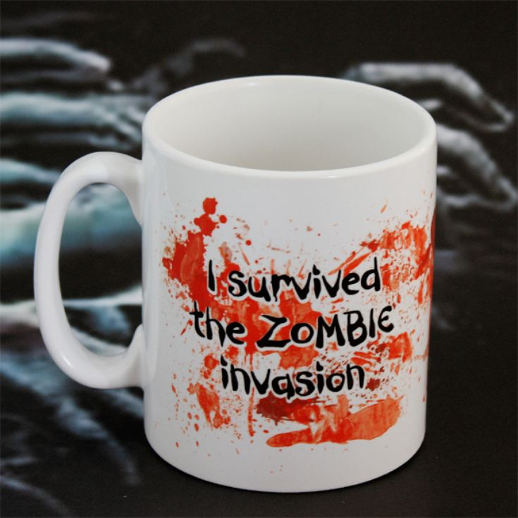 Personalised I survived a Zombie Invasion Mug product image