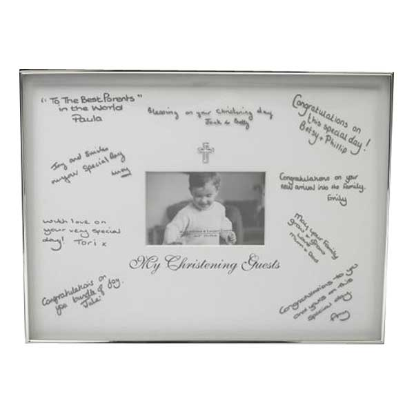 Guest Signatures Christening Frame - Christening Gifts