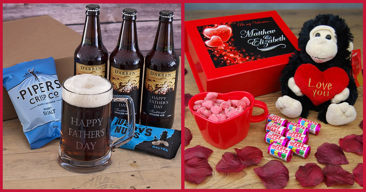 Personalised Ultimate Pub in a Box & Be My Valentine Personalised Gift Box