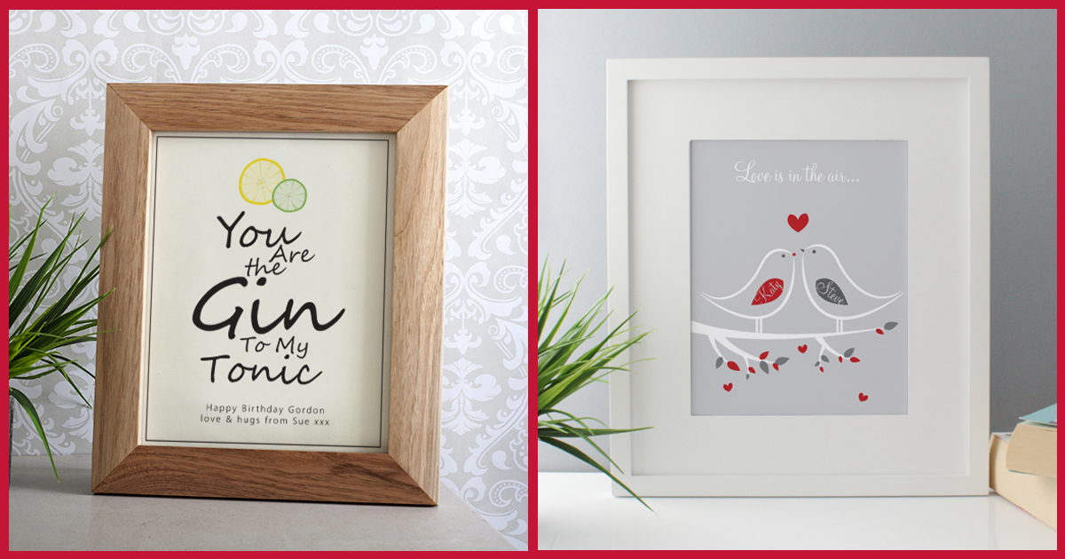 Gin And Tonic Framed Print & Love Is In The Air Framed Print