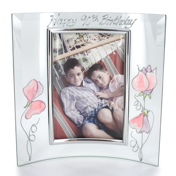 90th Birthday Sweetpea Photo Frame - 90th Birthday Gifts